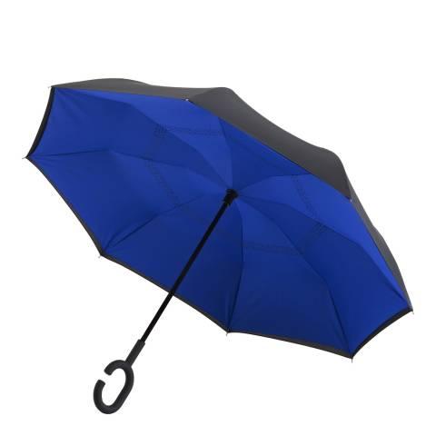 Impliva Black / Blue Reversible Umbrella