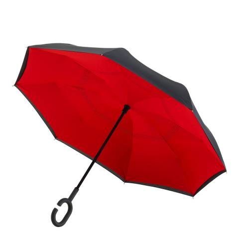 Impliva Black / Red Reversible Umbrella