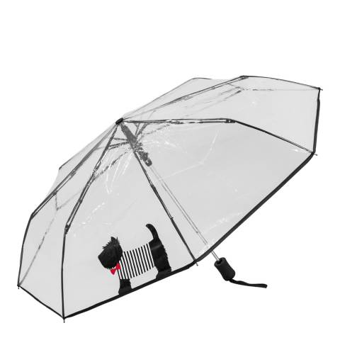 Susino Transparent / Black Dog Umbrella