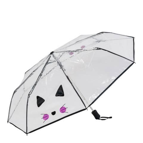 Susino Transparent / Black Cat Umbrella