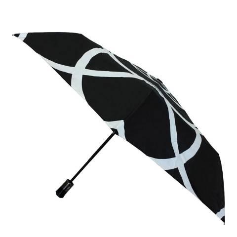 Smati Black / White Flower Mini Umbrella