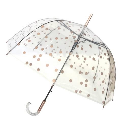 Smati Transparent / Gold Dots Birdcage Umbrella