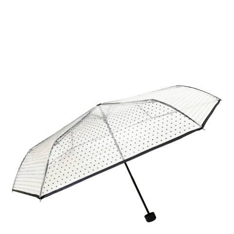 Smartbulle Transparent / Black Polka Dots Umbrella