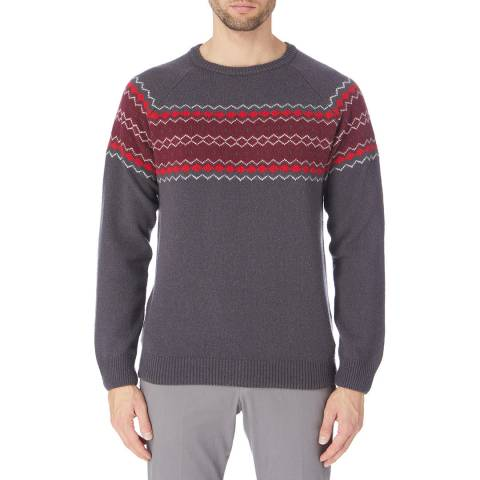 Crew Clothing Grey Fairisle Jumper