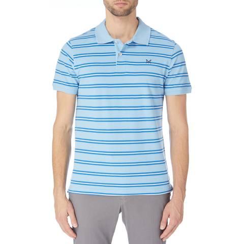 Crew Clothing Blue/Navy/White Camborne Stripe Jersey Polo