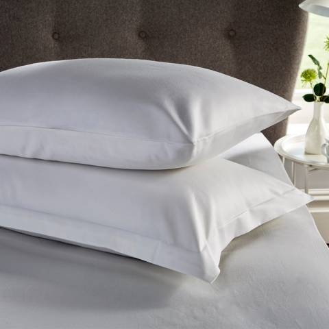 Hotel Living 400TC Pair of Housewife Pillowcases, Grey
