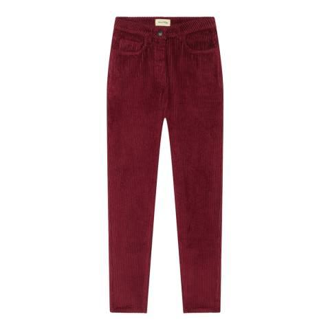 American Vintage Berry Cord Skinny Trousers