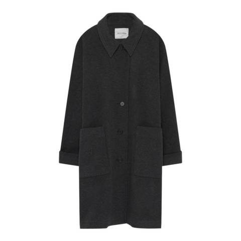 American Vintage Charcoal Wool Blend Coat