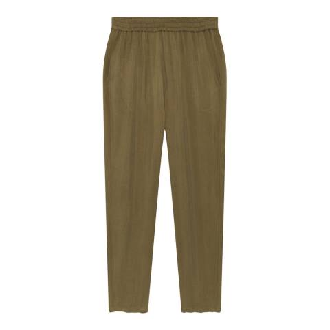 American Vintage Khaki Tapered Trousers