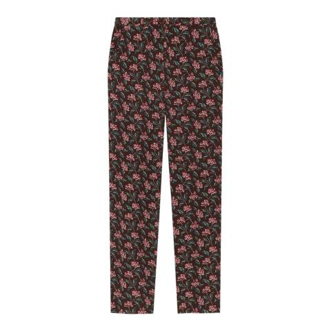 American Vintage Wine/Multi Tapered Cotton/Wool Trousers