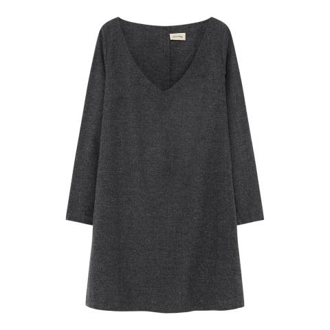 American Vintage Grey A Line Button Dress