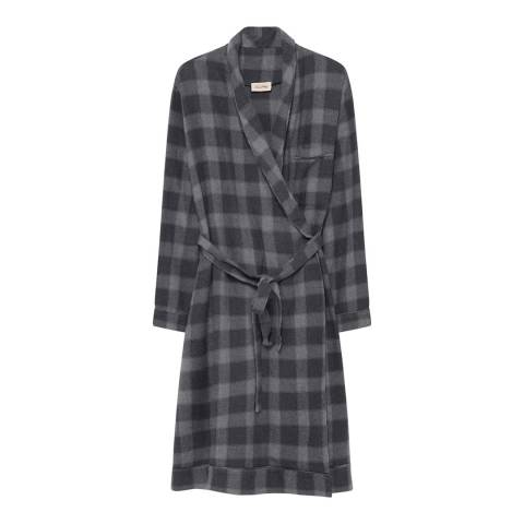 American Vintage Grey/Multi Check Wrap Dress