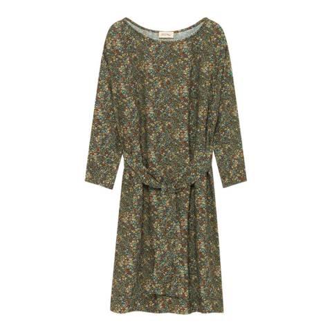 American Vintage Green/Multi Floral Tie Dress