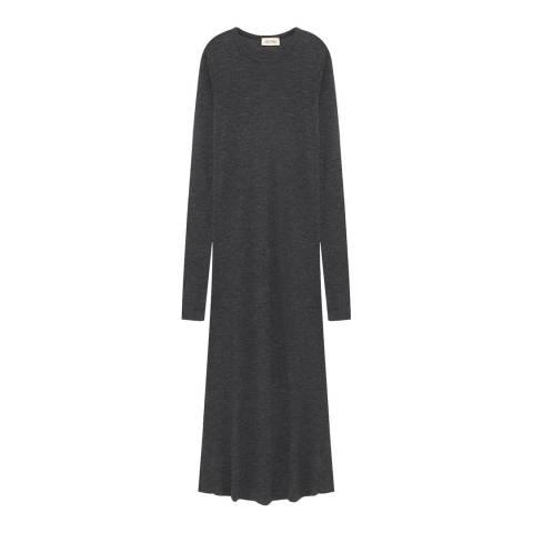 American Vintage Charcoal Midi Wool Knit Dress