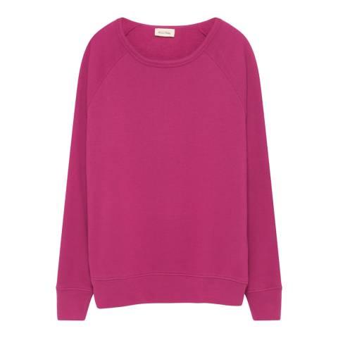 American Vintage Magenta Cotton Blend Sweatshirt