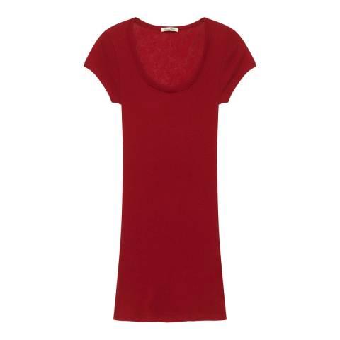 American Vintage Red Slim T-Shirt