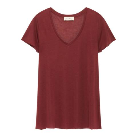 American Vintage Bordeaux Wool Blend T-Shirt