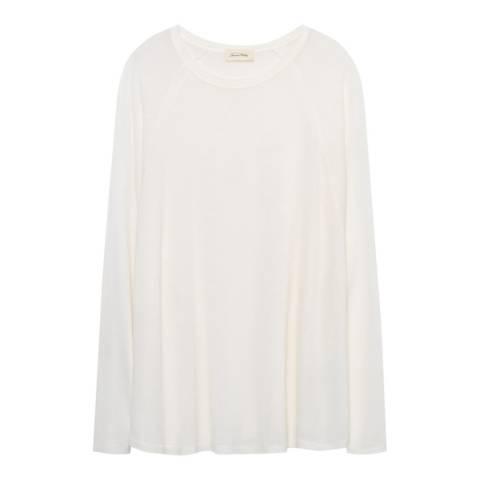 American Vintage Cream Relaxed Top