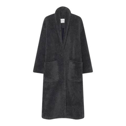 American Vintage Carbon Textured Wool Blend Coat