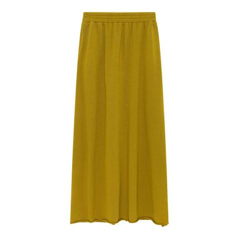 American Vintage Yellow Cotton Blend Long Skirt