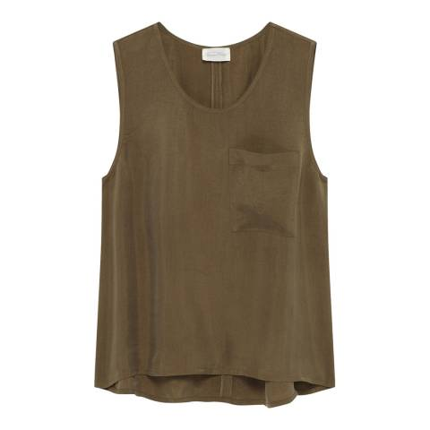 American Vintage Khaki Vest Top