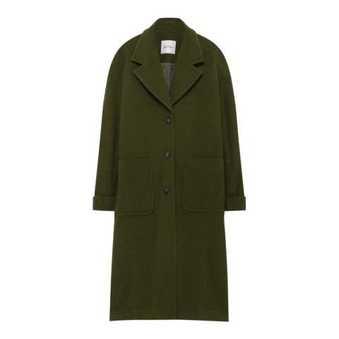 American Vintage Moss Tailored Longline Coat