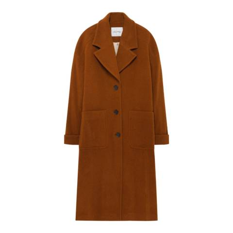 American Vintage Tan Tailored Longline Coat