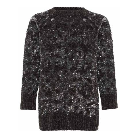 French Connection Charcoal Rosemary Sequin Knits Jumper