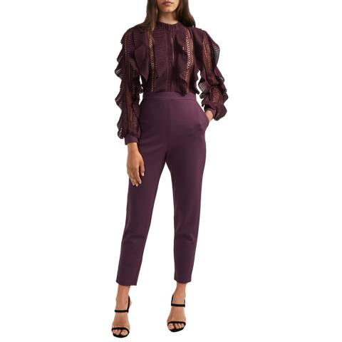 French Connection Grape/Black Patricia Lace Jumpsuit