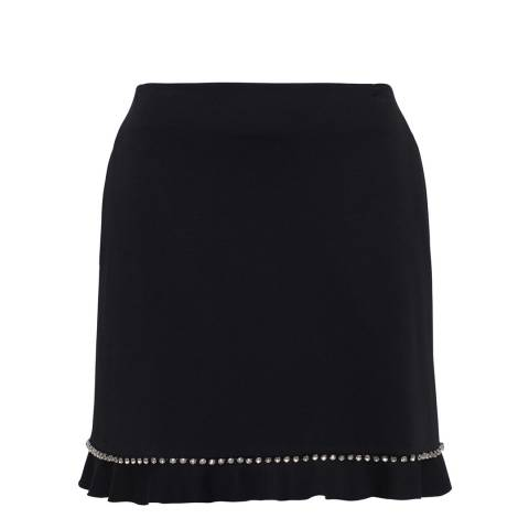 French Connection Black Pauline Rhinstne Skirt
