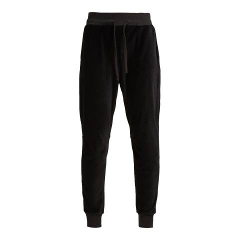 French Connection Black Ruthie Velour Jersey Joggers