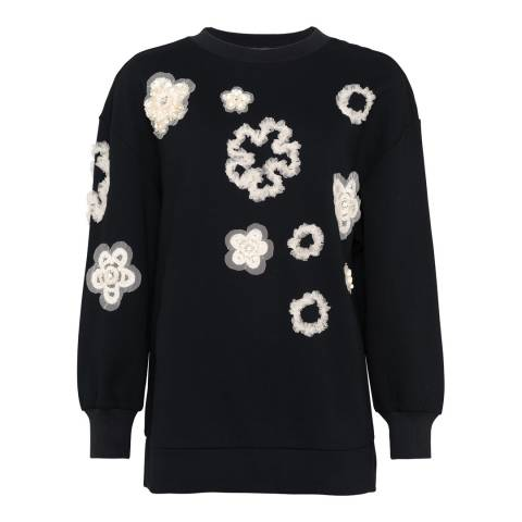 French Connection Black Josephine Embellished Jumper