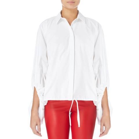White Paper White Testamine Cotton Shirt