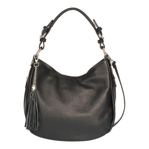 Massimo Castelli Black Leather Top Handle Bag