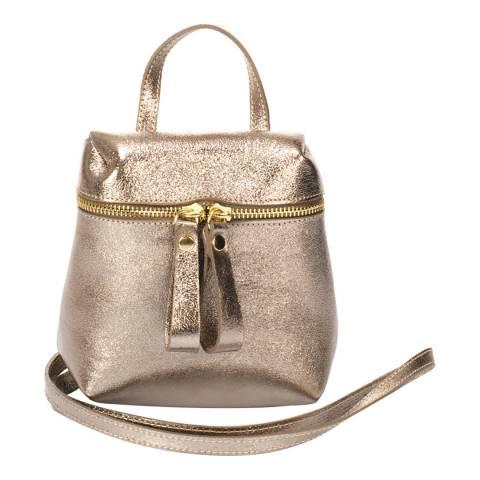 Markese Gunmetal Leather Crossbody Bag