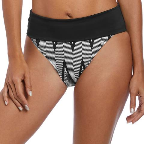 Fantasie Black & White Geneva Classic Fold Brief