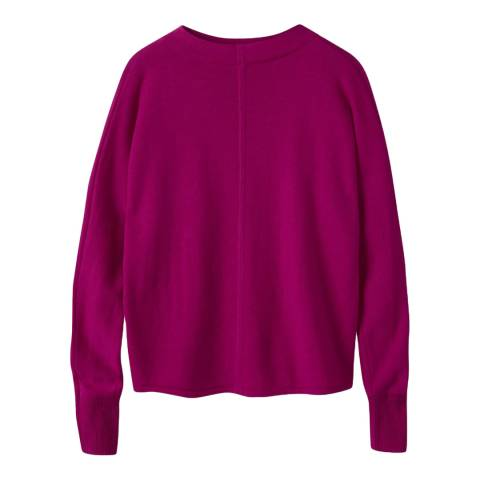 Pure Collection Bright Magenta Turtle Neck Batwing Sweater