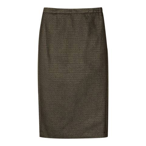 Pure Collection Gold Sparkle Midi Pencil Skirt