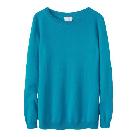 Pure Collection Rich Peacock Cashmere Boyfriend Jumper