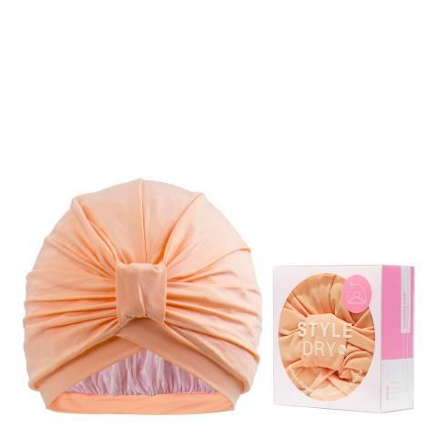 Styledry Turban Shower Cap, That's Peachy