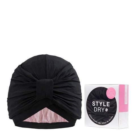 Styledry Turban Shower Cap, After Dark