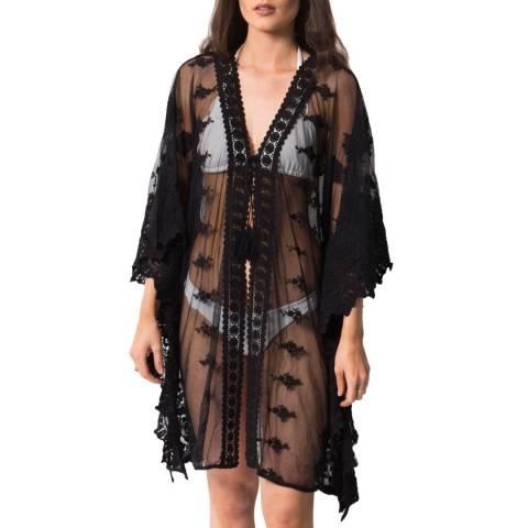 Pia Rossini Black Celeste Midi Cover Up