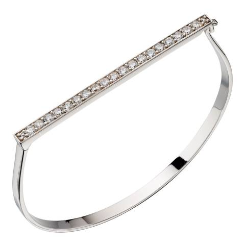 Fiorelli Silver Pave Hinged Bangle