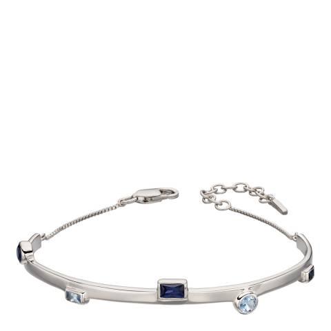 Fiorelli Silver Blue Nano Crystal Bangle