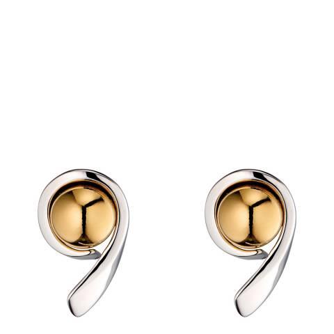 Fiorelli Silver Yellow Gold Ball Swirl Earrings