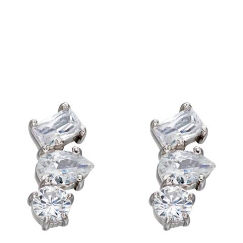 Fiorelli Silver CZ Crawler Earrings