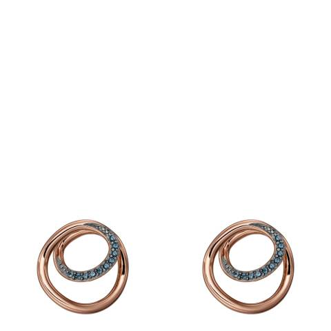 Fiorelli Rose Gold Blue Nano Spiral Earrings