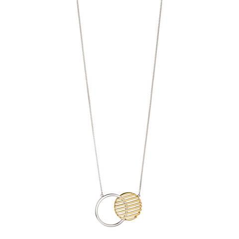 Fiorelli Silver Gold Disc Circle Necklace