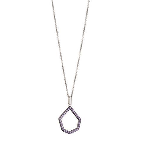 Fiorelli Silver Lilac CZ Open Pendant