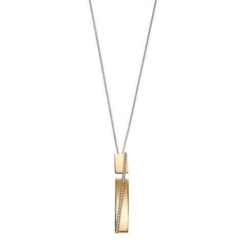 Fiorelli Yellow Gold CZ Bar Pendant Necklace
